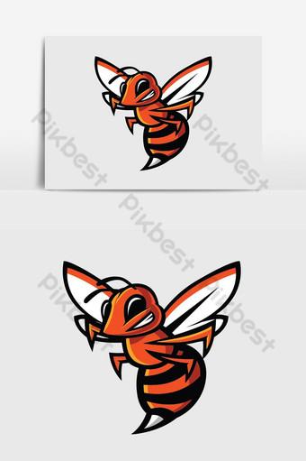 عسل النحل التميمة عنصر الرسم ناقلات صور PNG قالب AI