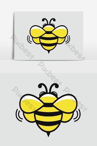 عسل النحل التميمة شعار ناقلات عنصر الرسم صور PNG قالب AI