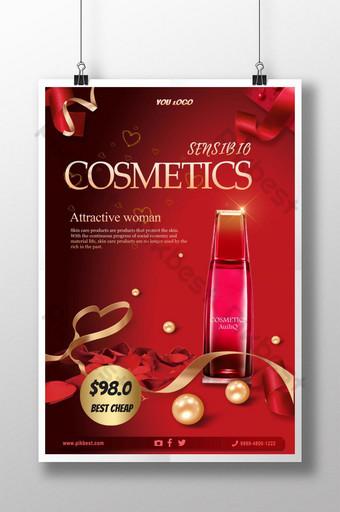 poster quảng cáo mỹ phẩm làm đẹp Bản mẫu PSD
