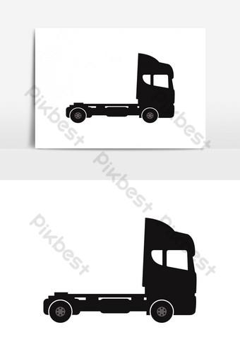 elemento gráfico de vector de icono de camión Elementos graficos Modelo EPS