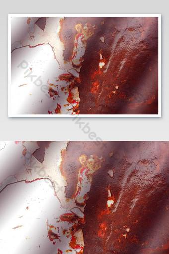 Foto roja de la superficie del coche oxidado blanco Fotografía Modelo JPG