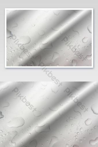 قطرات الماء الخلفية على الصورة سطح لامع رمادي التصوير قالب JPG