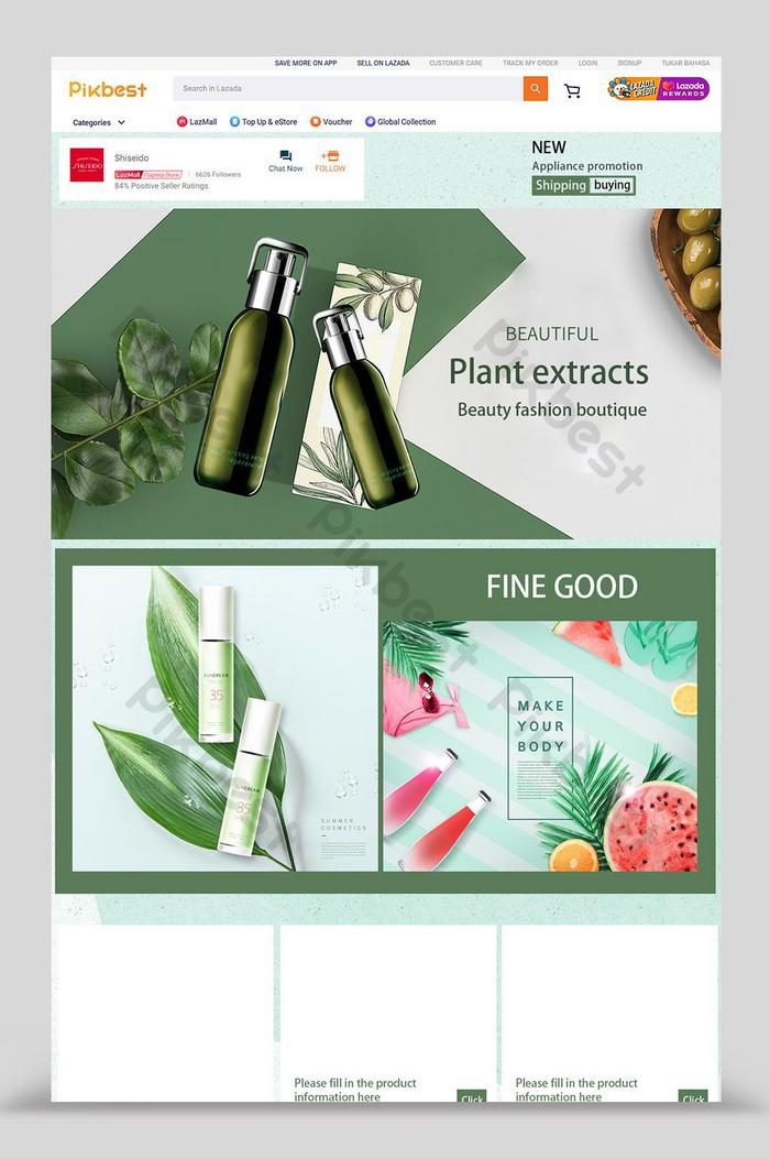 lazada green cosmetics promotion home