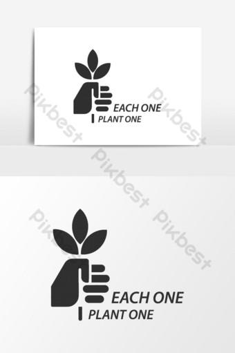 elemento gráfico de vector de logotipo de planta de árbol creativo Elementos graficos Modelo AI