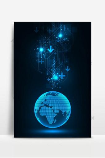 新的創新技術正在走向世界 背景 模板 EPS