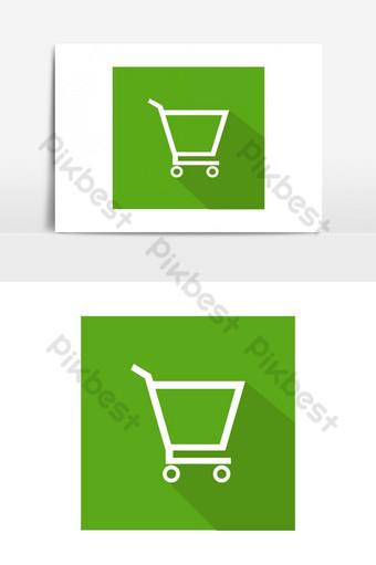 elemento gráfico de vector de icono de carrito de compras Elementos graficos Modelo EPS