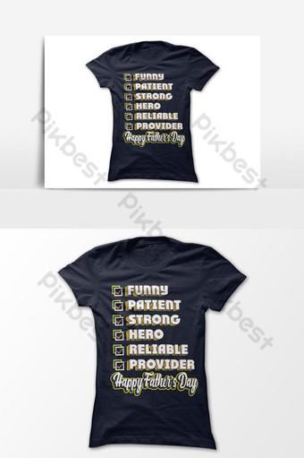 divertido paciente héroe proveedor confiable día del padre diseño de camiseta elemento gráfico vectorial Elementos graficos Modelo EPS