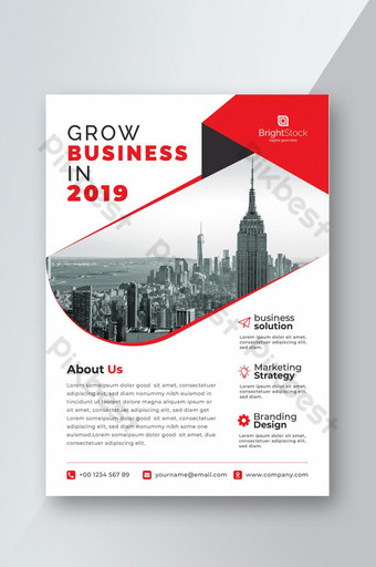 pamflet bisnis perusahaan Templat AI