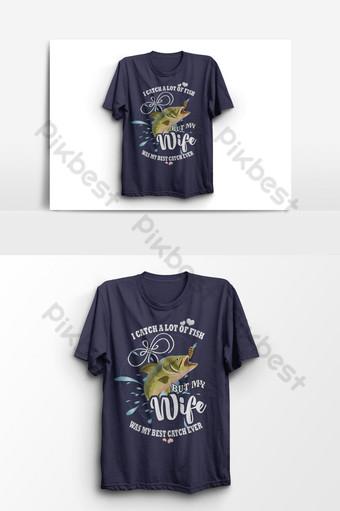 atrapo muchos peces pescando camiseta diseño vector elemento gráfico Elementos graficos Modelo EPS