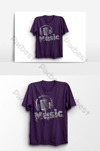elemento gráfico de vector de diseño de camiseta de música Elementos graficos Modelo EPS