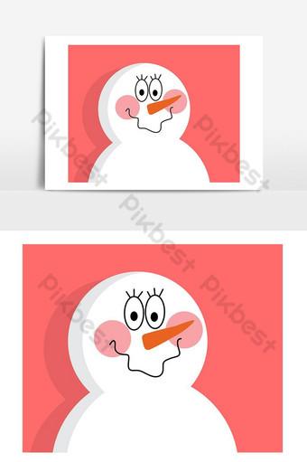 elemento gráfico de vector de color pop de vector de muñeco de nieve de navidad Elementos graficos Modelo AI