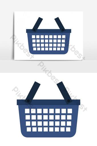 elemento gráfico de vector de icono de cesta de compras Elementos graficos Modelo EPS