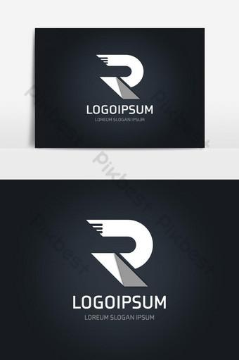 elemento gráfico de vector de logotipo de letra r Elementos graficos Modelo AI