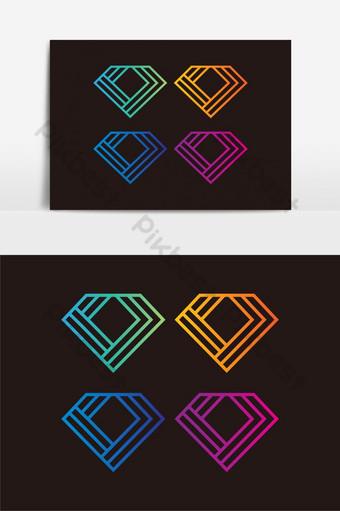 elemento gráfico de vector de logo de diamante Elementos graficos Modelo EPS