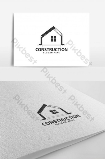 шаблон дизайна логотипа окна линейки домашнего строительства шаблон AI