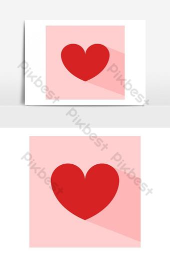 elemento gráfico de vector de icono de corazón Elementos graficos Modelo EPS