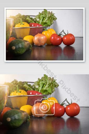 Set rau củ tươi trộn nguyên liệu thơm ngon tốt cho sức khỏe để nấu ăn hoặc ảnh salad Nhiếp Ảnh Bản mẫu JPG