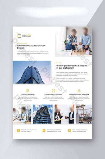 Conception de flyer d'architecte Modèle PSD