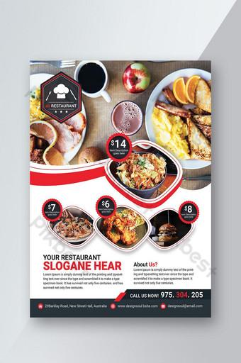 Conception de flyers de restaurant Modèle PSD