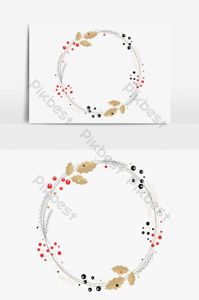 إطارات عيد الميلاد إكليل الحدود لعنصر الرسم ناقلات عيد ميلاد سعيد صور Png Ai تحميل مجاني Pikbest