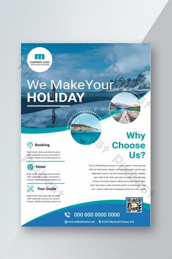 Conception de flyers de voyage vacances Modèle PSD