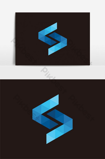elemento gráfico del vector del logotipo de la letra s Elementos graficos Modelo EPS