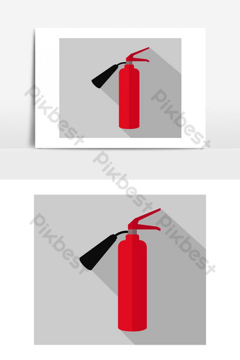 Fire extinguisher icon Vector Graphic Element PNG Images Template EPS