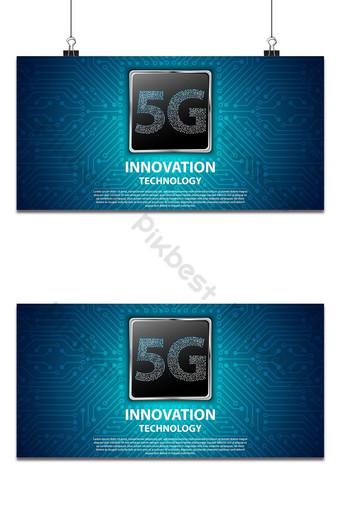 La tecnología de innovación 5g con placa de circuito es la conexión de red de fondo más rápida Fondos Modelo AI
