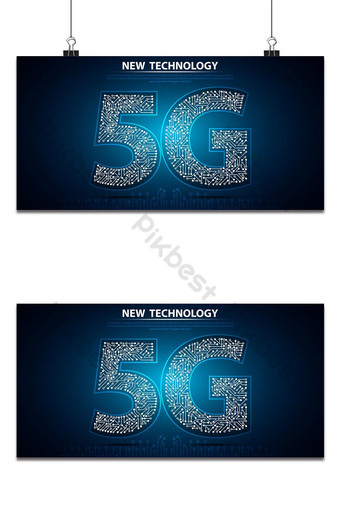 La nueva tecnología 5g con placa de circuito es la conexión de red de fondo la Internet más rápida Fondos Modelo AI