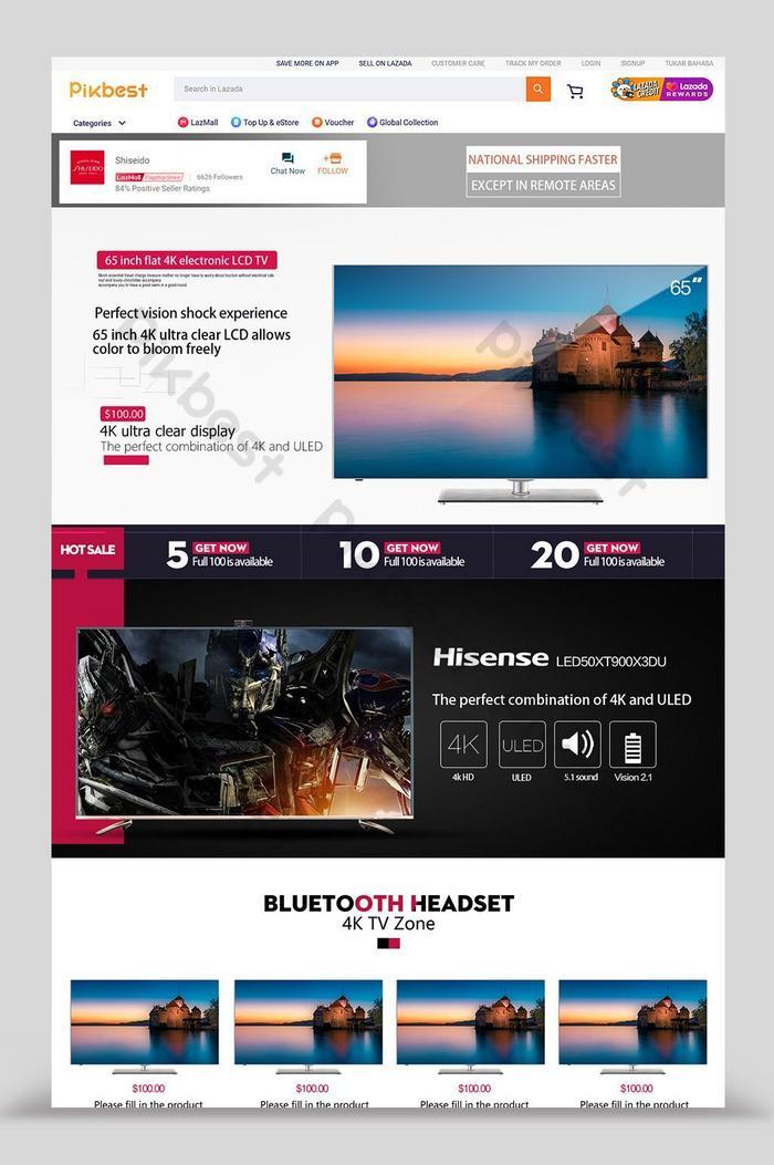 desain rumah tv digital lazada