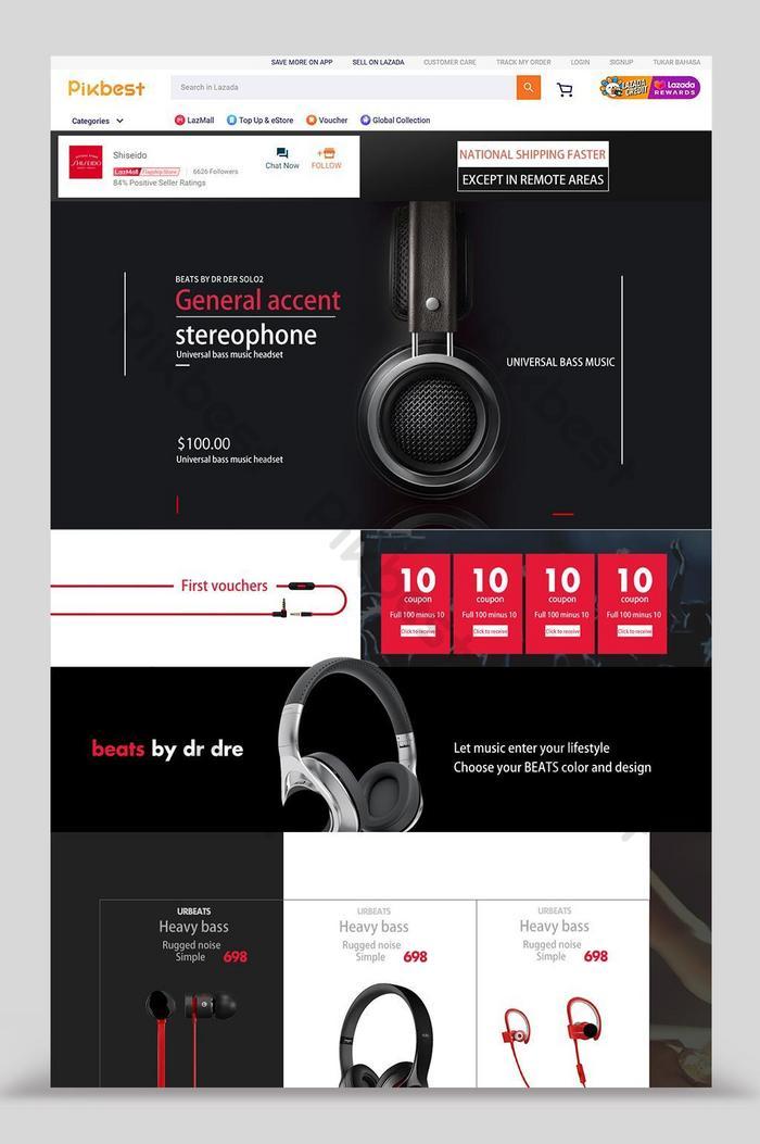 lazada headphone audio digital home design