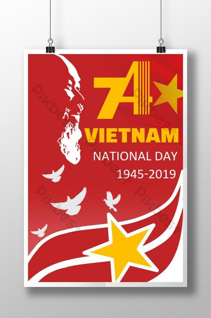 affiche créative de la fête nationale du vietnam