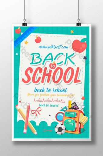 Back to school season color poster creative design Template PSD