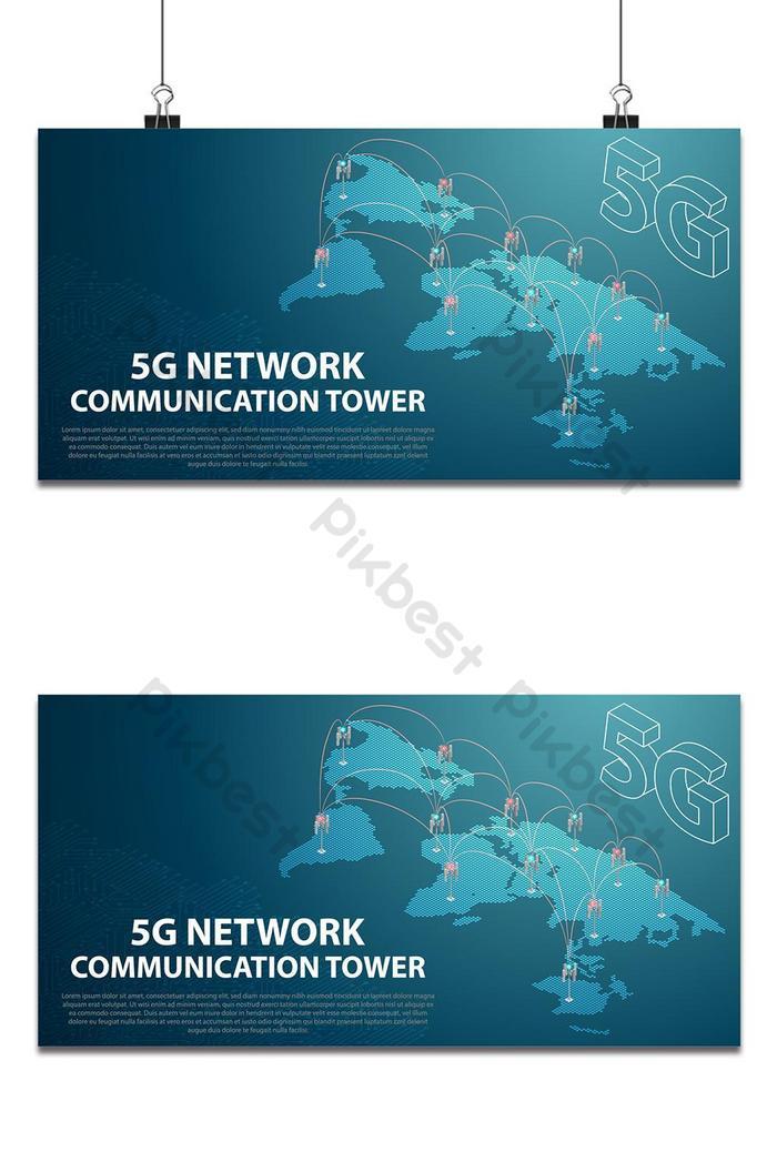 torre de antena de comunicação de tecnologia de rede móvel base 5g internet sem fio de alta velocidade