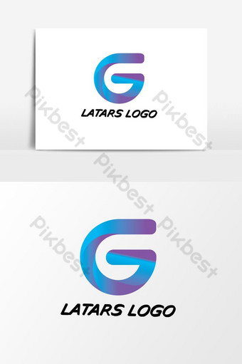 G trazo de pincel carta logo diseño negro pintura logo letras icono con elegante círculo vector Modelo AI