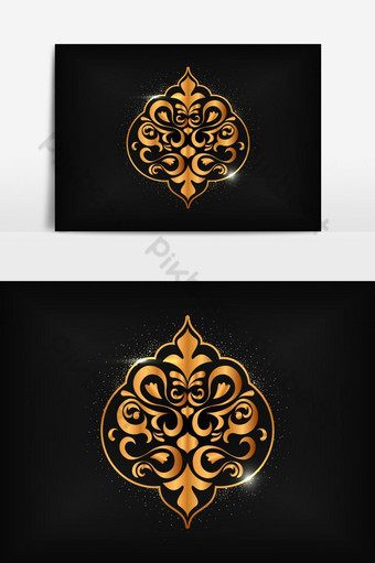 Islamic Mosaic Design With Abstract Background PNG Images Template EPS