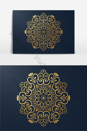 Islamic style seamless Arabic geometric pattern PNG Images Template EPS