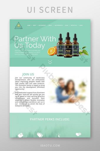plantilla de psd de sitio web de venta de productos comerciales Modelo PSD