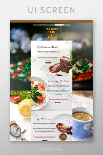 diseño de plantilla web psd de restaurante Modelo PSD
