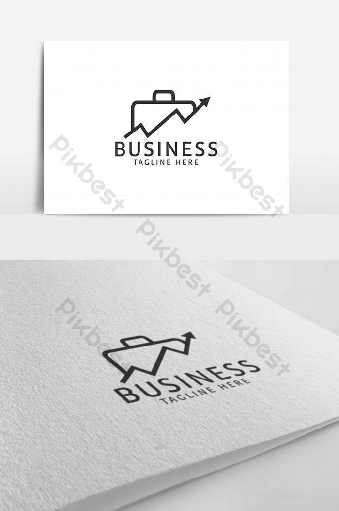 Шаблон дизайна логотипа линии стрелки движения бизнес-компании сумки