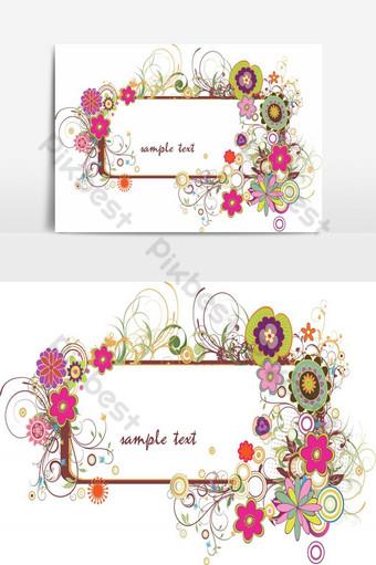 elemento gráfico de vector de diseño de elemento floral increíble Elementos graficos Modelo AI