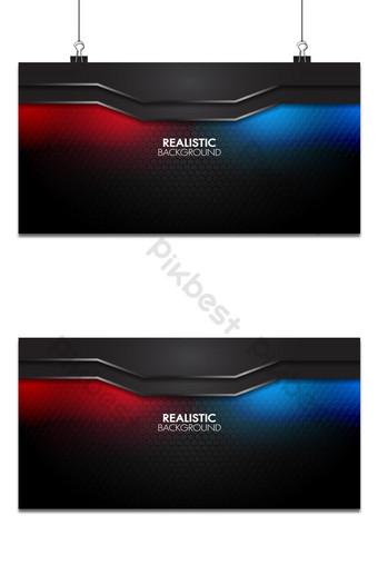 Estera abstracta negra geométrica elegante futurista brillante fondo rojo y azul claro Fondos Modelo AI
