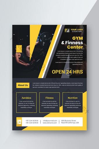 Modèle de conception de flyer de fitness GYM Modèle AI
