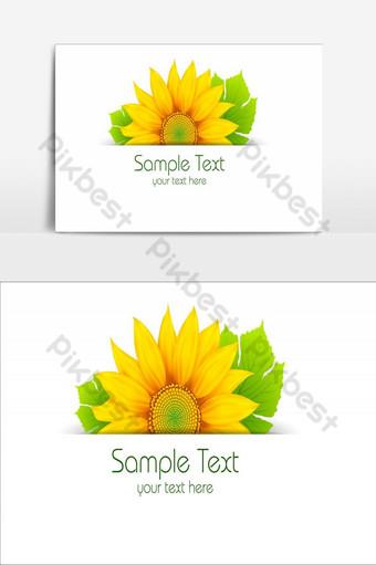 diseño de elemento de flores increíbles elemento gráfico de vector de flor de sol Elementos graficos Modelo AI