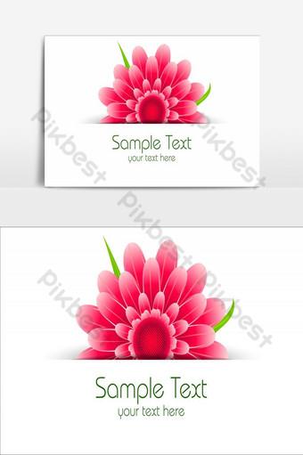 diseño de elemento de flores increíbles elemento gráfico de vector rosa degradado Elementos graficos Modelo AI
