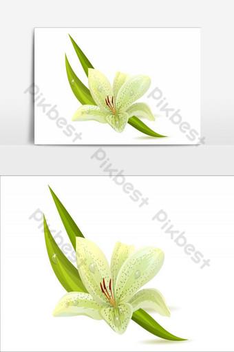 diseño de elemento de flores increíbles elemento gráfico de vector verde degradado Elementos graficos Modelo AI