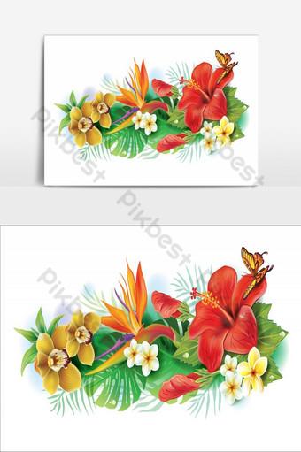 Increíble diseño de elementos de flores elemento gráfico de vector rojo y marrón Elementos graficos Modelo AI