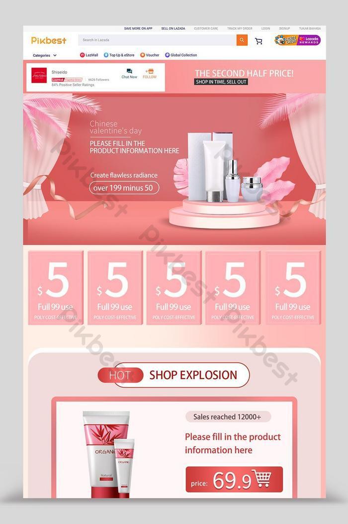 lazada cosmetics beauty promotion home