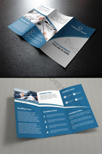 профессиональная деловая брошюра trifold шаблон AI