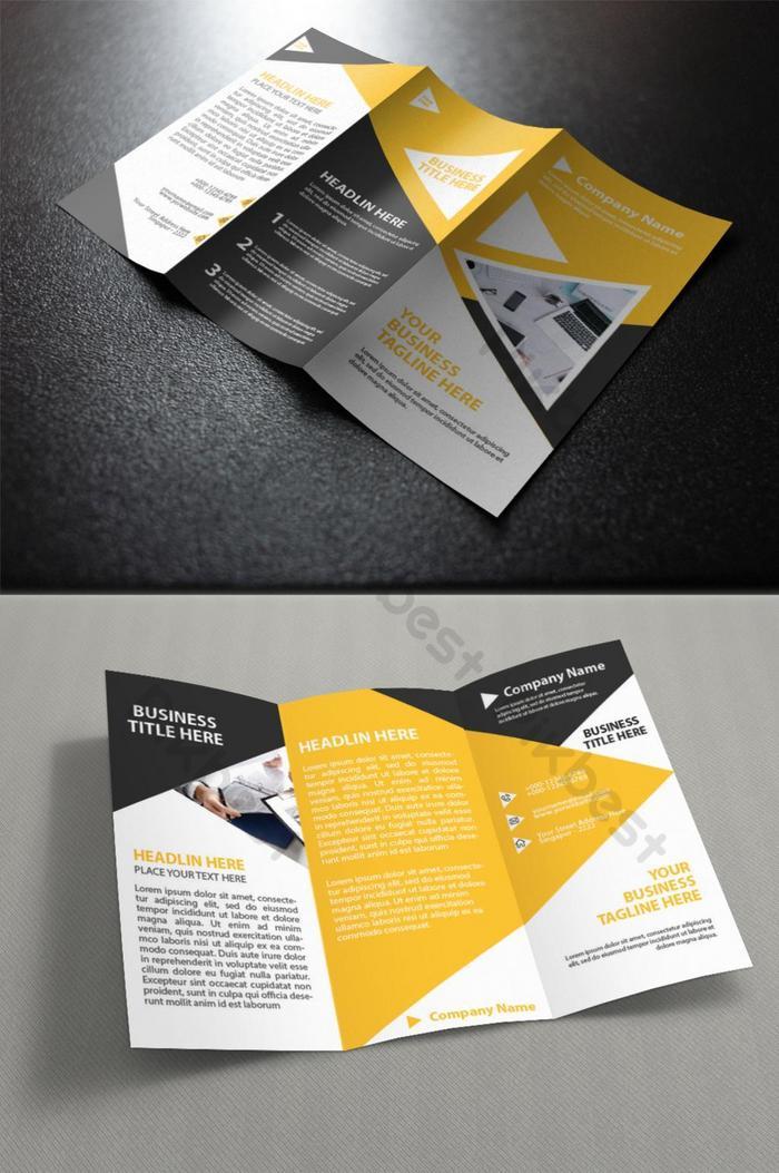 broszura creative business trifold